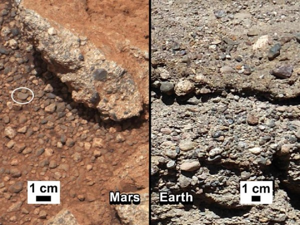 Riverbeds on Mars and Earth