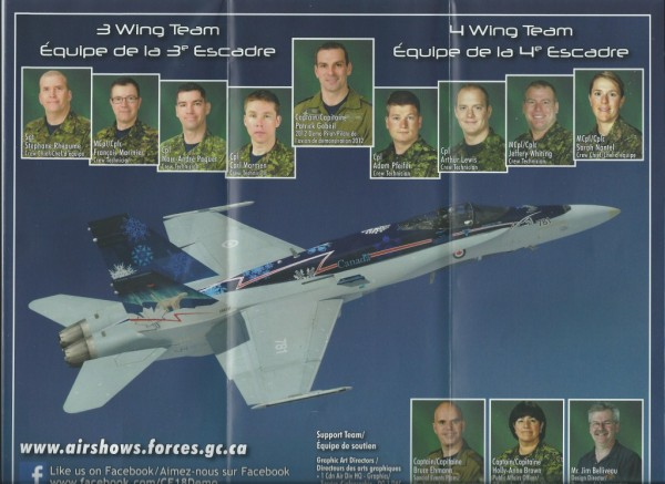 Royal Canadian Air Force Demonstration F 18 Hornet Brochure. This airp...