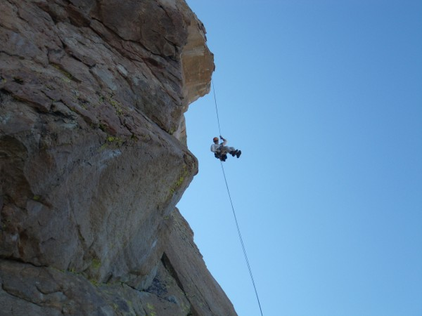 Bill on the second rappel