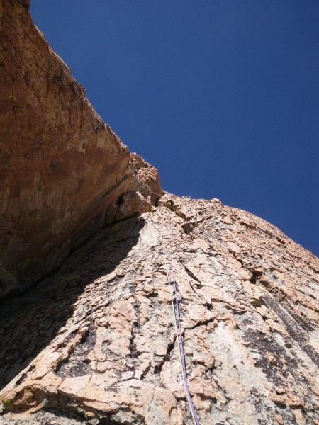Bill's lead of the second pitch of SE Buttress (variation)