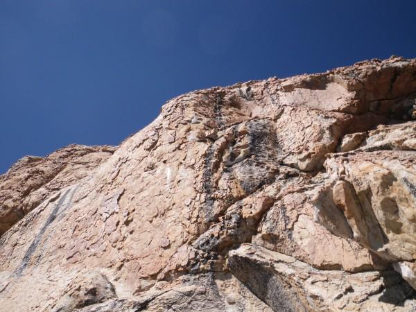 """Best 5.8 climbing on the Obelisk"", SE Buttress, third pitch"
