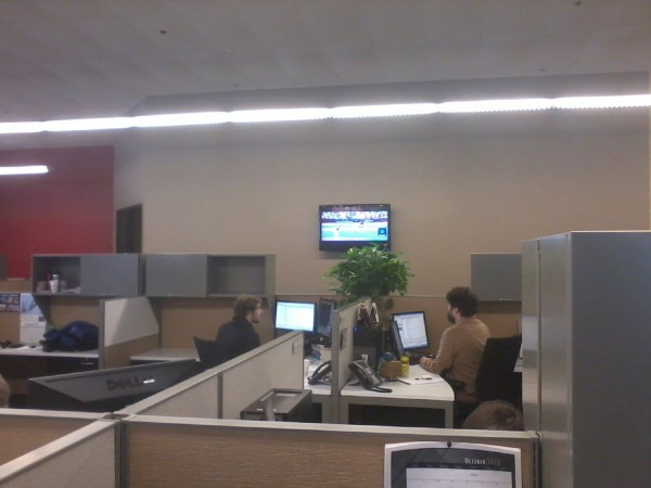 Hard at work, go Giants!
