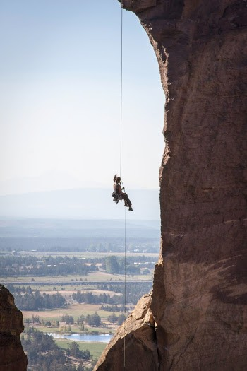 Skip rappelling off The Monkey
