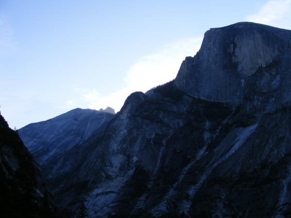Half Dome at dawn from the base of the Prow. This is first of several ...