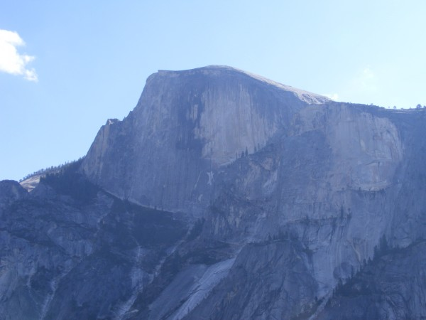 Half Dome in the early morning from the top of pitch 3.