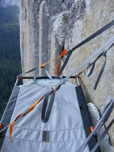 My portaledge at the pitch 9 bivvy. Since all my pictures were taken w...