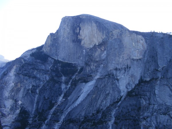Half Dome from my pitch 9 bivvy.