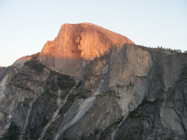 Half Dome from pitch 10 of the Prow.