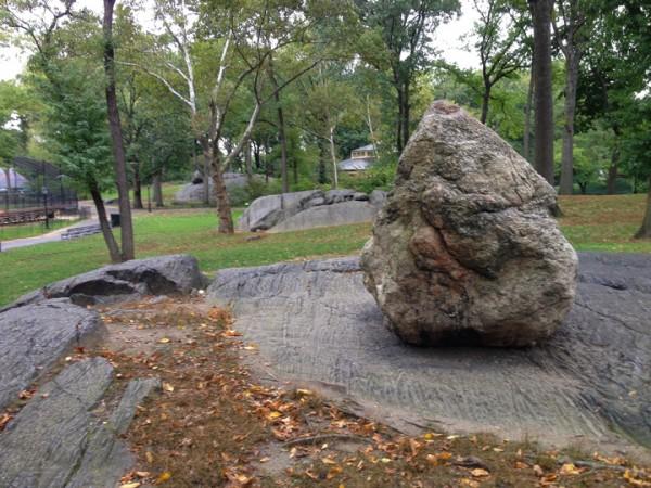 Glacial erratic and scoured bedrock.  Just like Tuolumne!