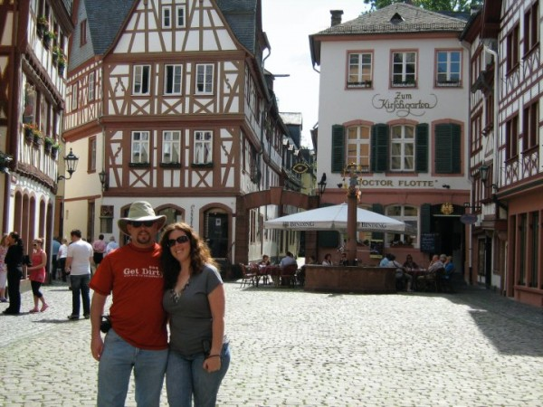 Christina and I in old town Mainz, Germany