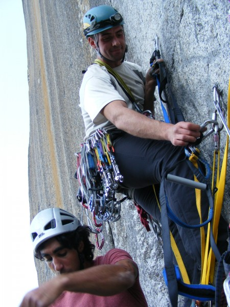 Vitaly and Hamik passing me at the start of pitch 4.