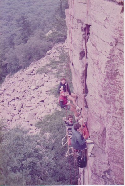 Not the Caption, but Devil's Lake, Hilton's Buttress. 1985