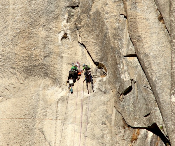 Luke and Doug on El Cap yesterday