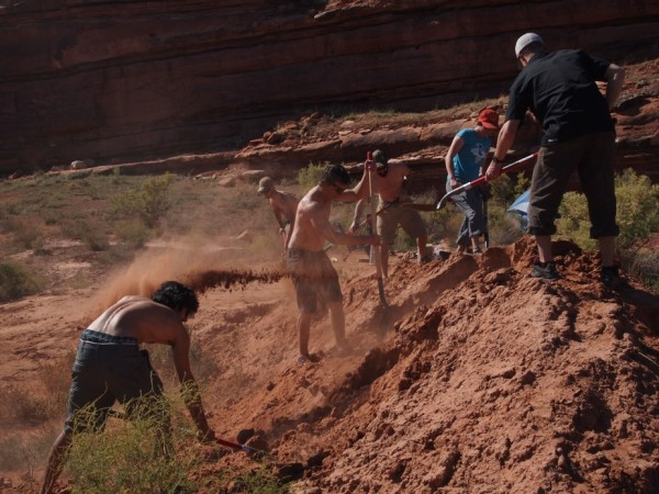 This crew is making the dirt fly!
