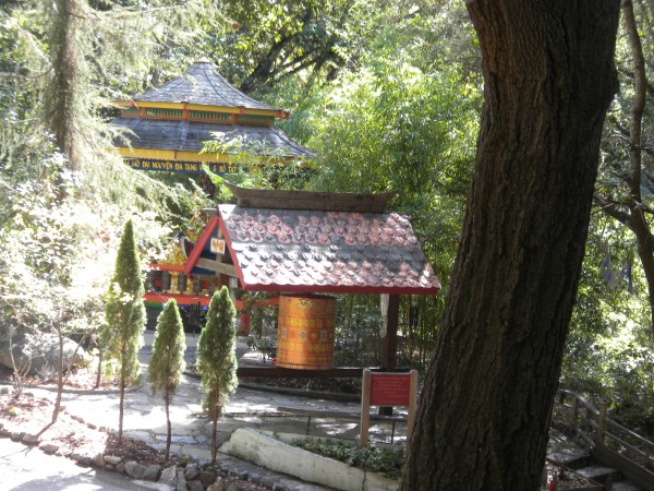 Approaching the Gongs, Bells and small Prayer Wheel.  At this point I ...