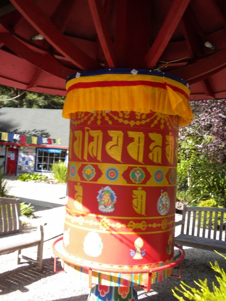 A lovely small prayer wheel in the main part of the grounds.