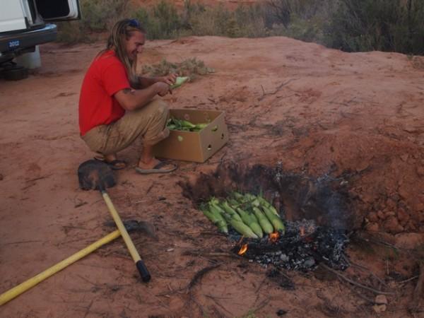 Darrin Reay outdoor chef extraordinaire.