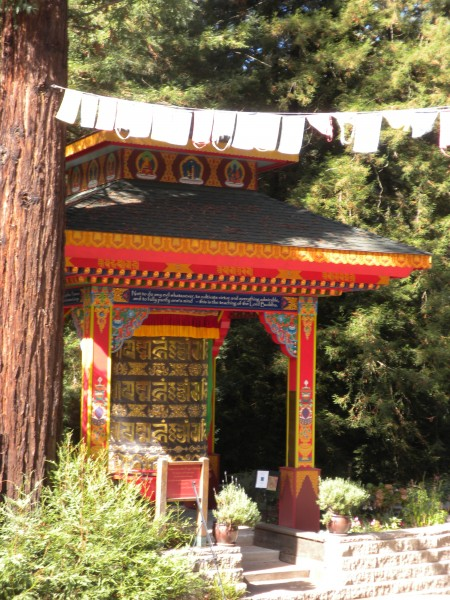 Turning the big prayer wheel