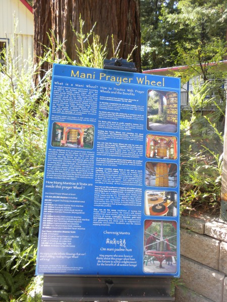 information about the prayer wheel and the actual construction.