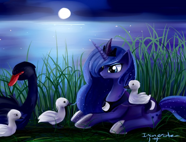In truth, Rivet Hanger REALLY wishes he was Princess Luna in this pict...
