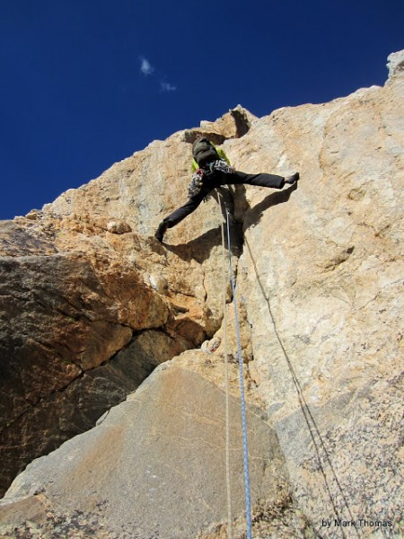 Thomas Bukowski leading a 5.9 stem variation to P4 of Irene's Arete.