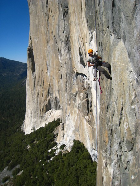 Spanish couple rappelling