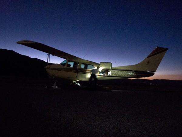 Plane in Lee Vining
