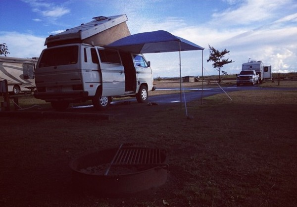 5.2b to the top of my Westy to attach the poptop rainfly for a weekend...