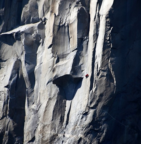 Stranded 2000' from the ground.  This photo is from El Cap Report