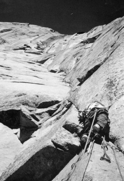 Randy Hamm on the Dihedral wall (El Capitan) which if I remember right...