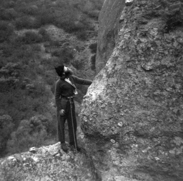 Dick Ellsworth at the Pinnacles (probably 1973)