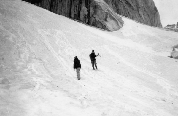 Myself and Randy Hamm at the Bugaboos in Canada in about 1978