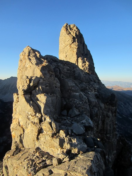 Looking back at some towers atop the Middle Buttress of Dark Star.
