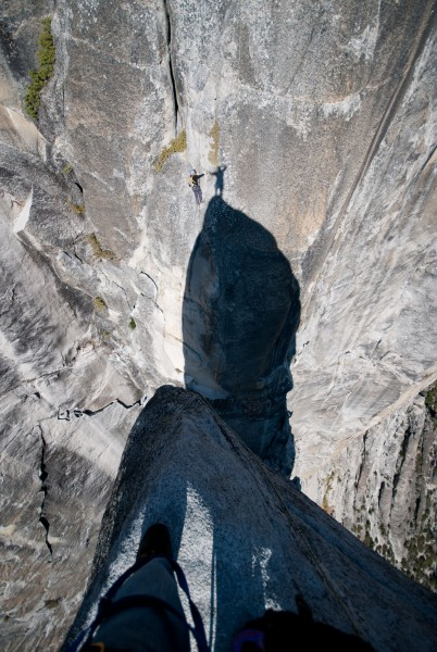 father son high 5 on lost arrow spire