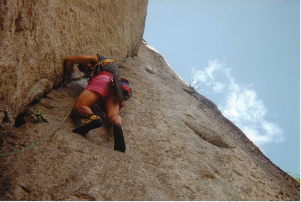 Recompense on Cathedral Ledge 5.9 circa 1984