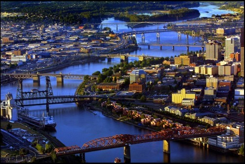 Now here are some bridges. PDX is know as bridge town.