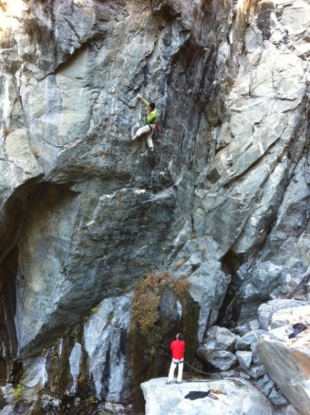 Mike Carville and Josh Horniak climbing Game of Thrones .12c. Emeralds...
