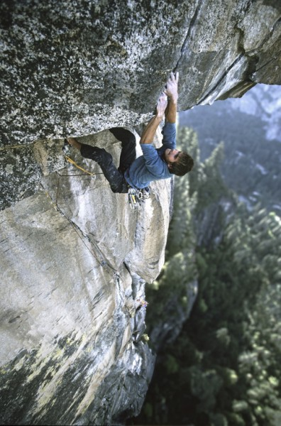 "Chris Sharma onsighting ""Excellent Adventure"" (5.13, age 16) o..."