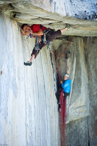Caldwell freeclimbing 5.14 on El Cap.