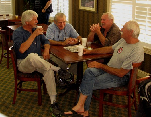 L. to R.: Life is a Bivouac, Don Lauria, Guido, Bill St. Jean