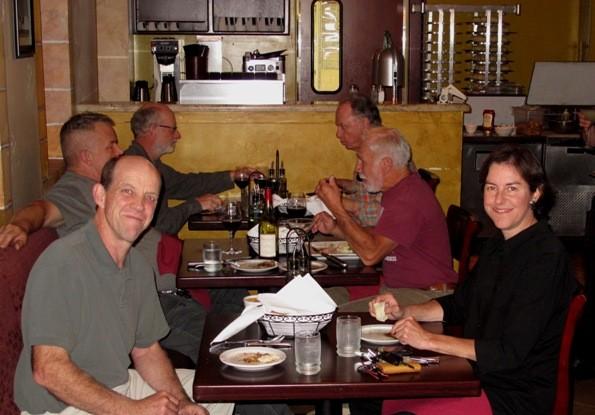 Steve & Mimi at dinner.