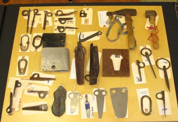 Miscellaneous hardware from Yosemite Climbing Association Collection.