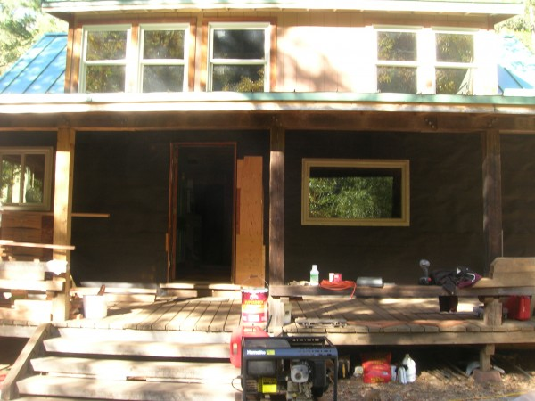 South side porch, unsided so far.