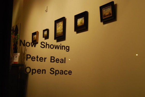 A view into the gallery from a show I had in Boulder last year