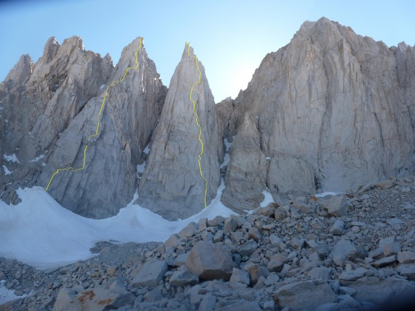 Day Needle- BCB on the Prow VI 5.10A2.    Keeler Needle- Blood of the ...