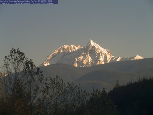 Mt Garibaldi is looking pretty good...
