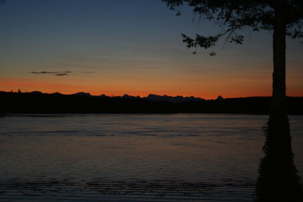 Breaking dawn over April Point, Campbell River, BC