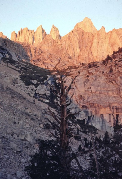 Mt Whitney sunrise solo 1971