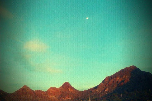 The Full Moon in the Desert.... Spring, 2012