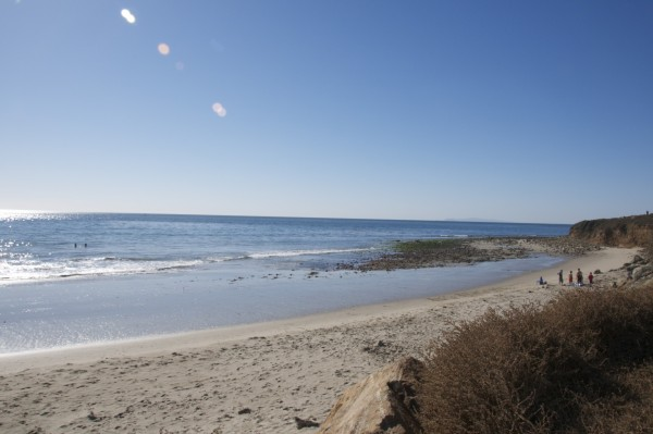 Looked flat - but every 10-15 minutes a nice set of 4 to 6 waves, wais...